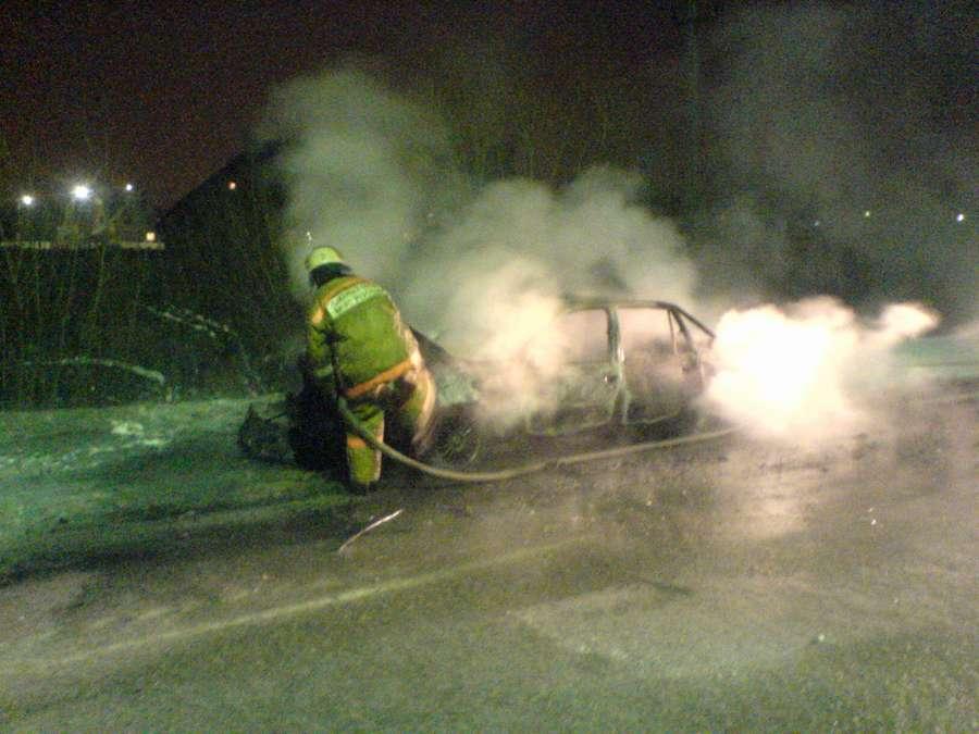 В Пермском районе сгорела Дэу Нексия - фото 1