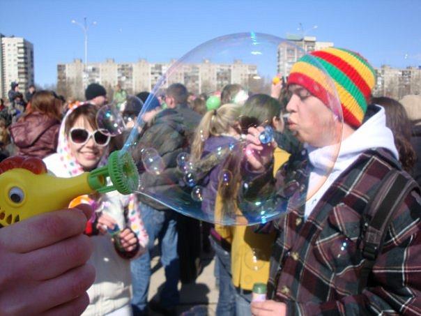 В Перми сегодня пускали пузыри