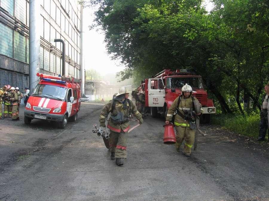 Пермские пожарные при тушении «Сорбента» усложнили себе работу