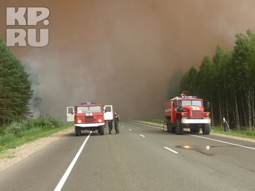 Из-за пожара в лесах Марий Эл перекрыта федеральная трасса