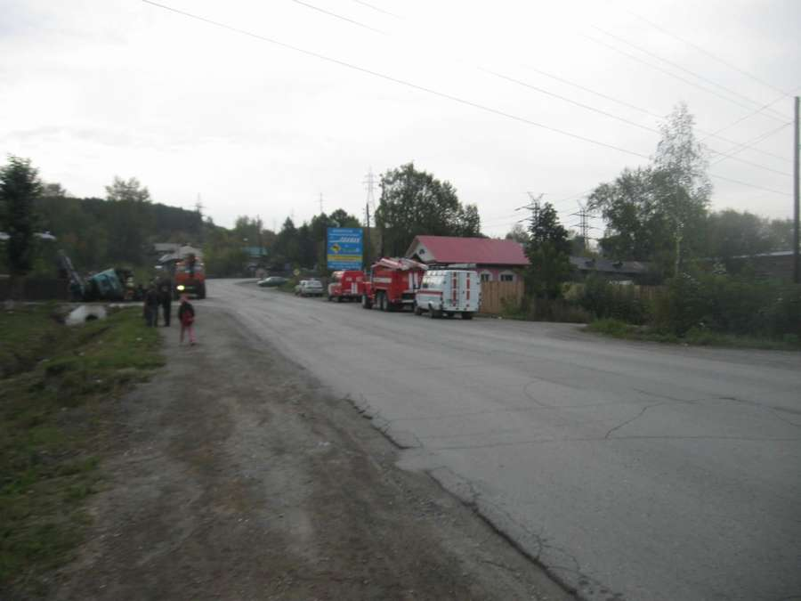В Пермском крае перевернулся бензовоз с мазутом - фото 2