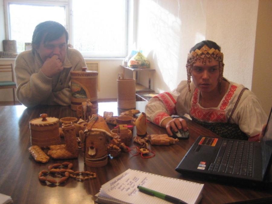 В Перми сегодня учились плести из бересты