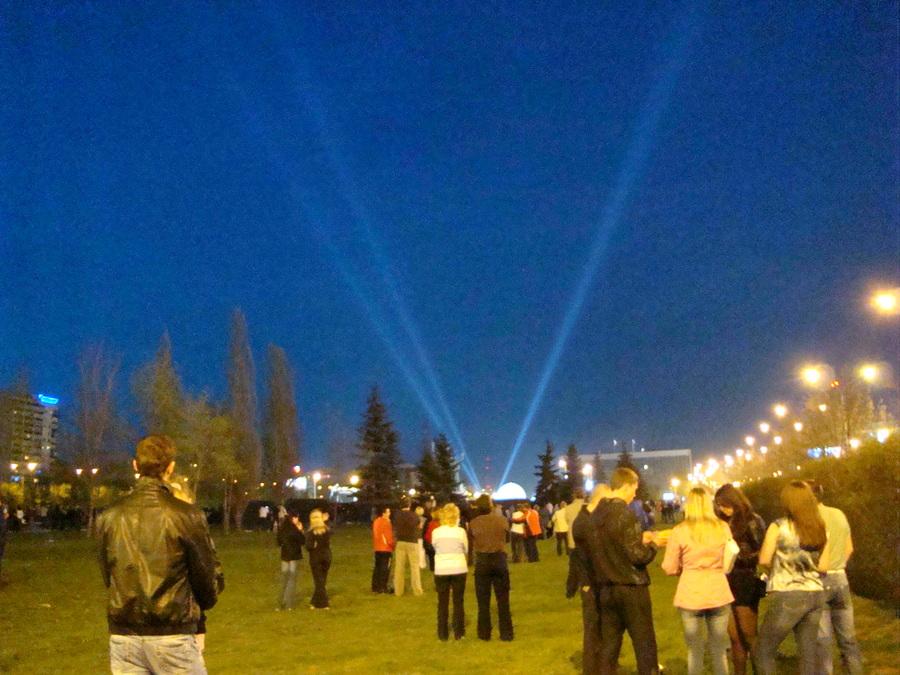Праздник Победы в Перми был омрачен лазерным шоу