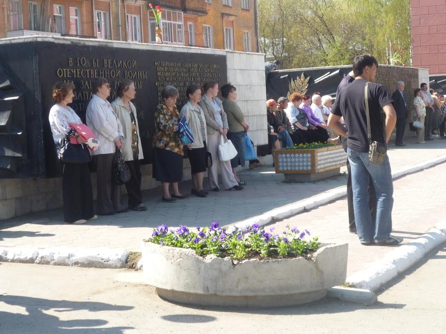 В Перми у Дома офицеров сегодня чествуют ветеранов