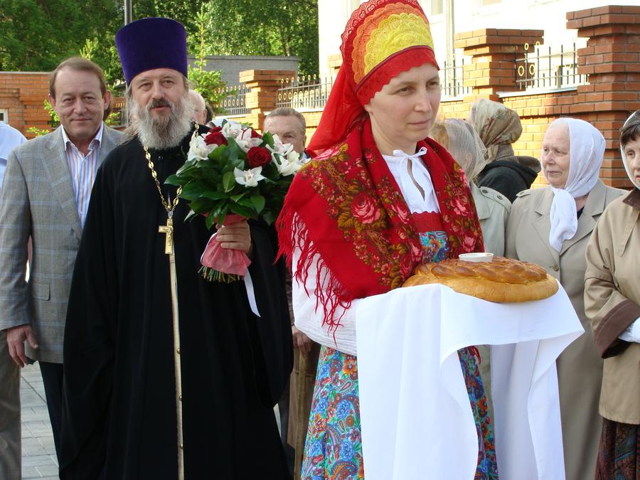 В Центре Перми идет освящение храма Георгия Победоносца