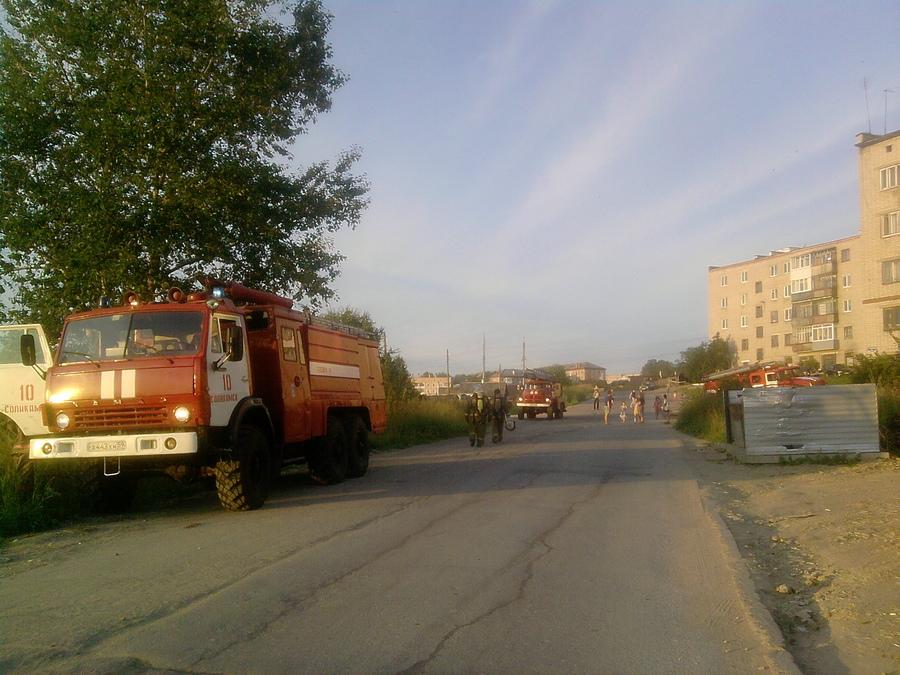 Соликамские пожарные напугали горожан