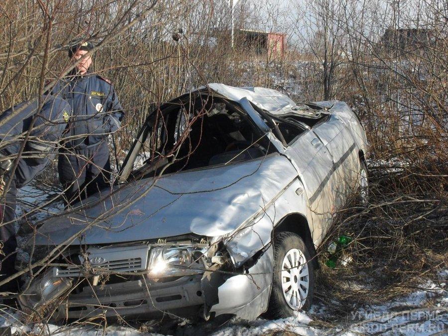 В Лысьвенском районе в автоаварии погибли два человека - фото 1
