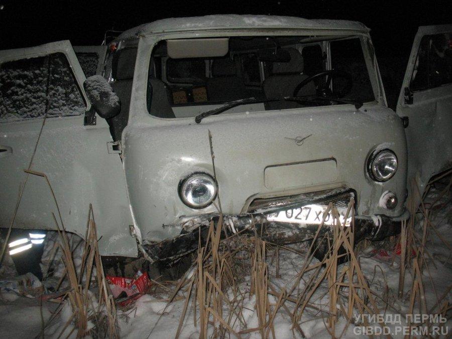 В Нытвенском районе водитель УАЗа получил перелом позвоночника - фото 1