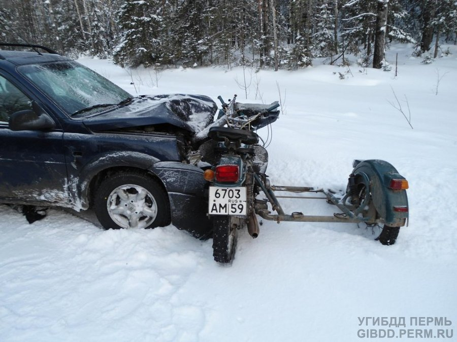 В Чердынском районе убит мотоциклист