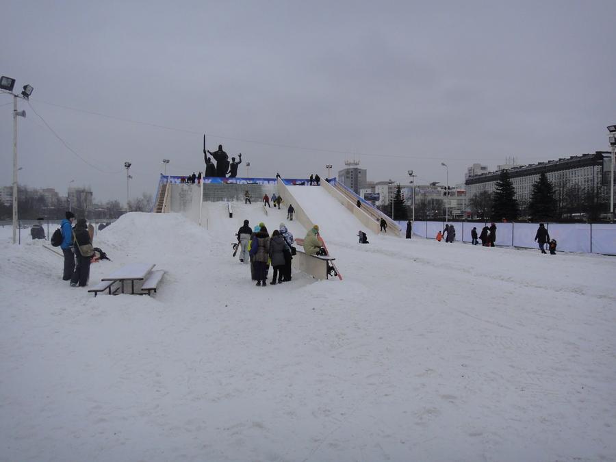 В центре Перми открылся Сноуборд парк