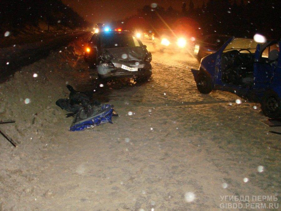 В Перми погиб водитель Матиза - фото 1