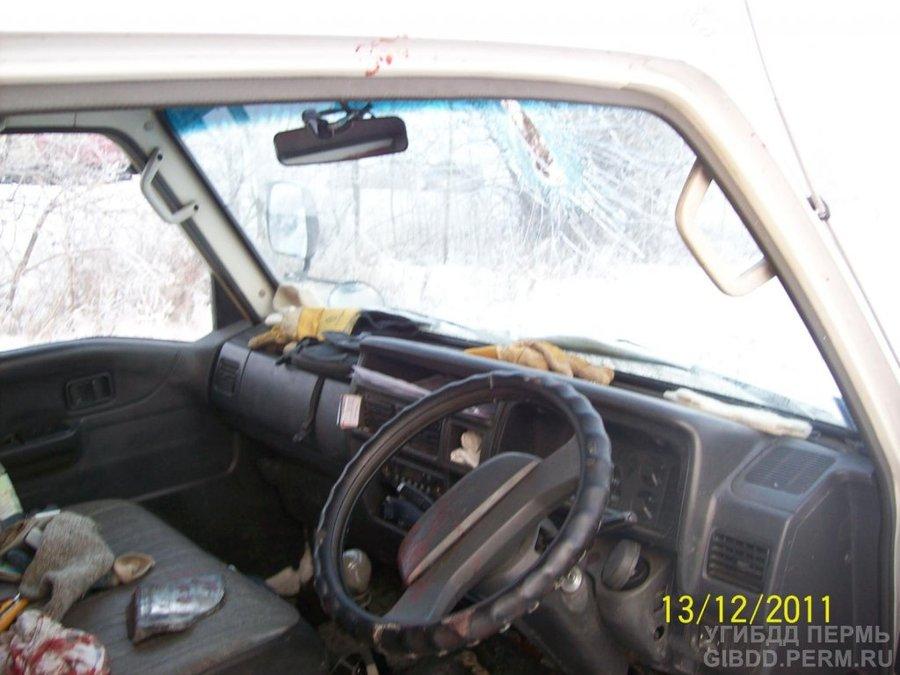 В Краснокамском районе водителя ранило отлетевшей тормозной колодкой