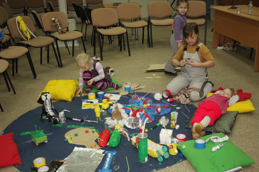 На Пермской ярмарке дети сегодня занимались ресайклингом