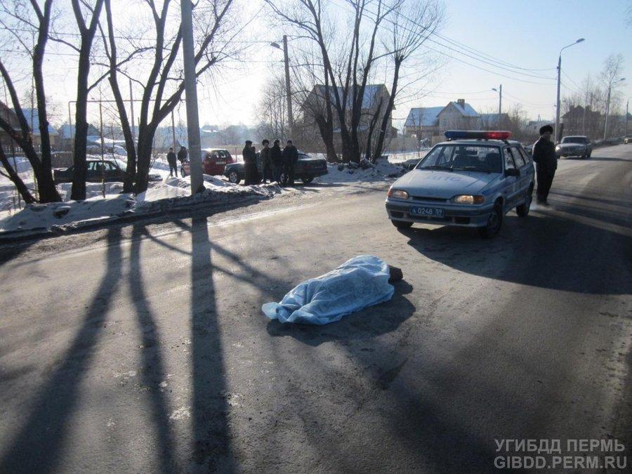 В Перми на дороге погибла старушка - фото 1