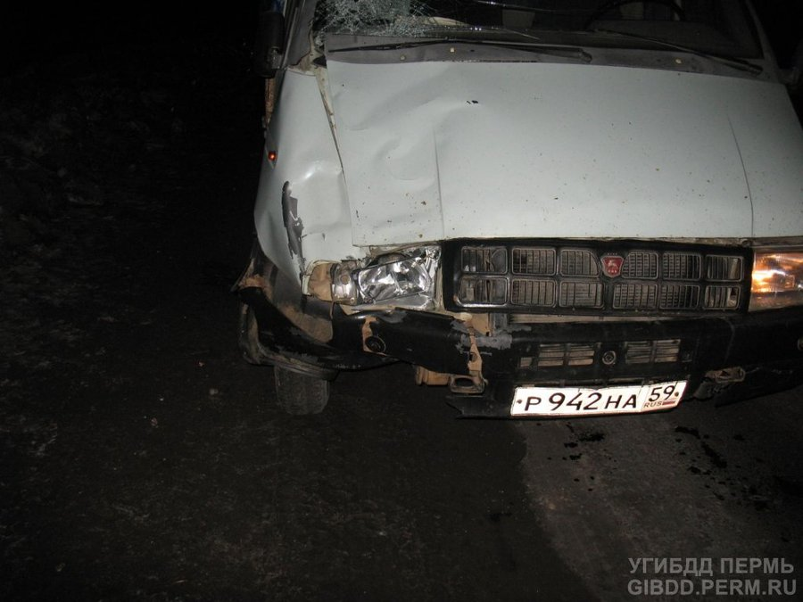 На федеральной трассе в Нытвенском районе молодой человек попал под колеса Газели