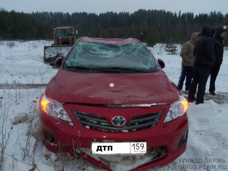 В Верещагинском районе женщина водитель перевернула Тойоту - фото 1