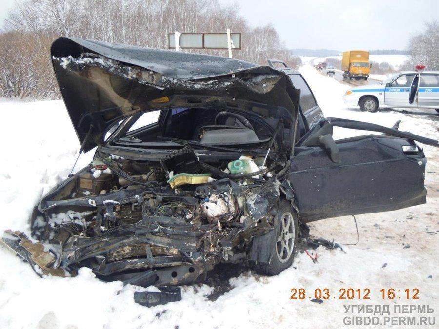 В Чернушинском районе женщина-водитель не справилась с управлением