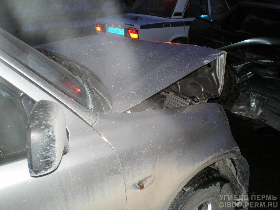 В Краснокамском районе в столкновении 4 автомобилей пострадал  ребенок