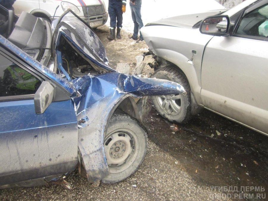 В Перми на дороге Дружбы три человека ранены в ДТП