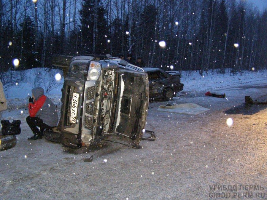 В Нытвенском районе в ДТП погибла девушка, трое ранены