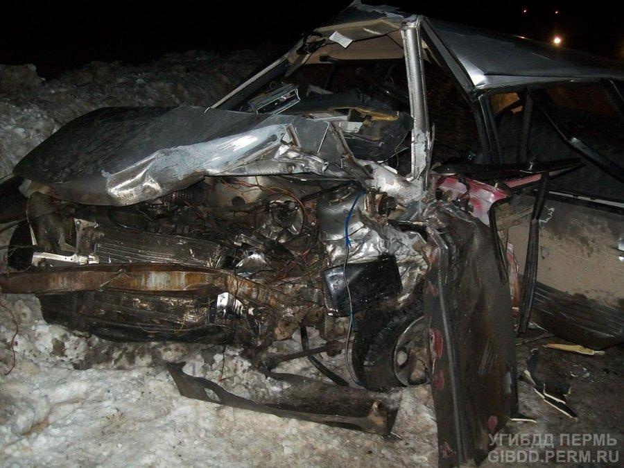 В Очерском районе в ДТП один человек убит, двое ранены
