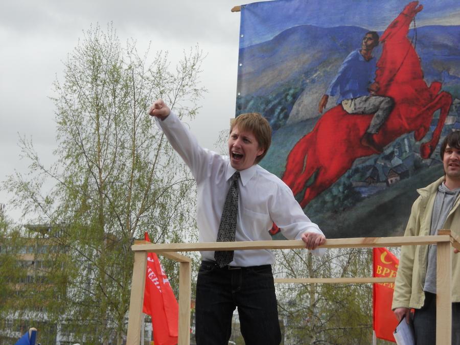 В Перми на митинге от накала страстей сгорел даже усилитель