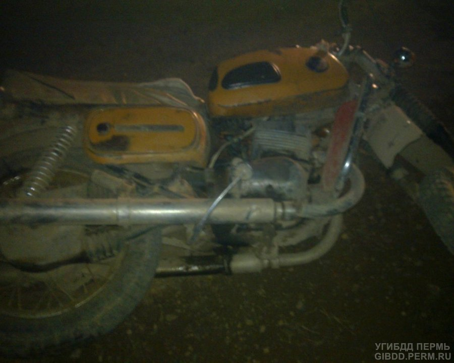 В Куединском районе перевернулся мотоциклист