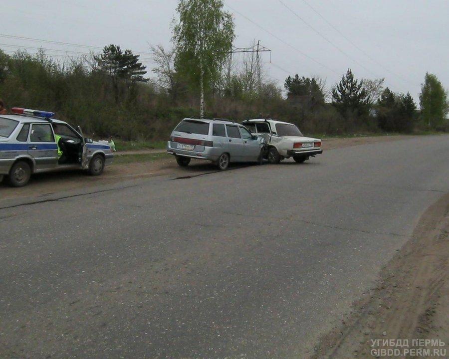 В Чайковском районе в автоаварии пострадали два водителя