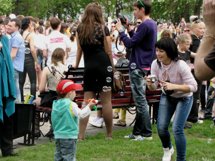 В Перми состоялся ежегодный День мыльных пузырей
