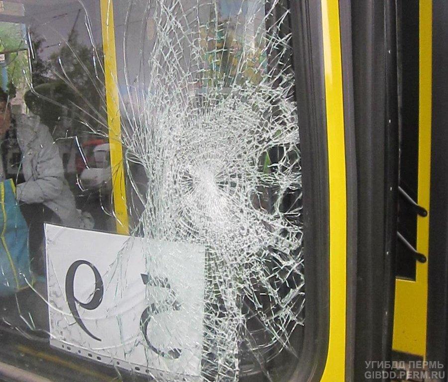 В Перми маршрутный автобус сбил девушку - фото 1