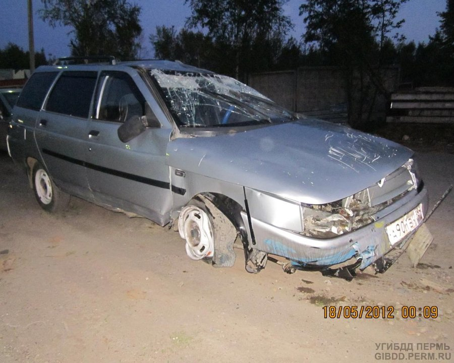 В Перми водитель 11-й не вписался в железнодорожный переезд - фото 1