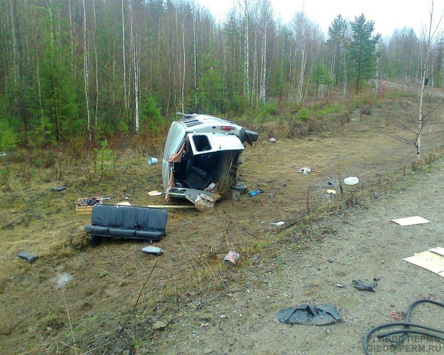 В Пермском крае в столкновении с пожарной машиной двое погибли, четверо ранены