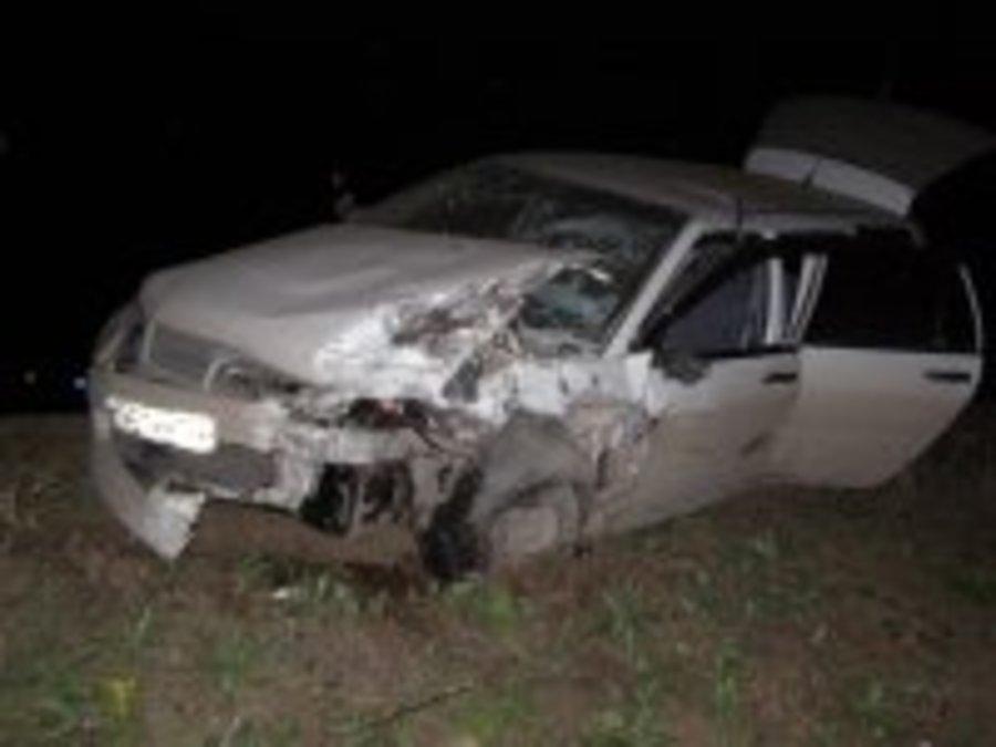 В Пермском районе при столкновении загорелись две машины, погиб водитель