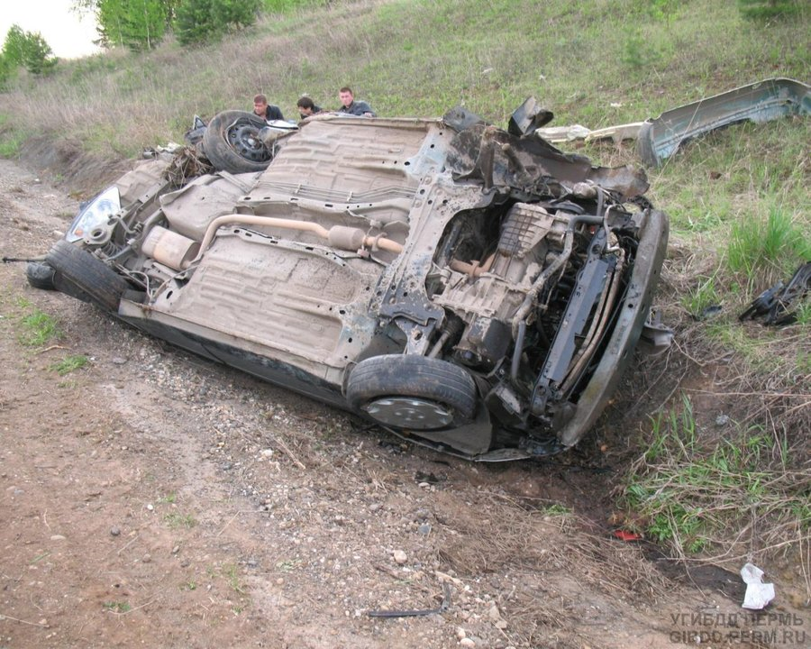В Кунгурском районе водитель без прав перевернулся на Форде - фото 1