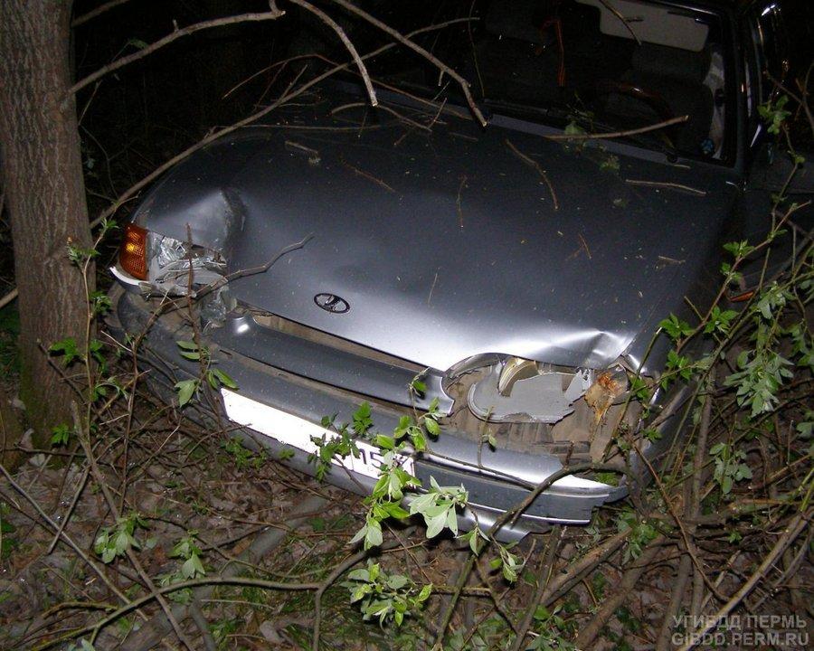В Октябрьском районе ВАЗ врезался в дерево - фото 1