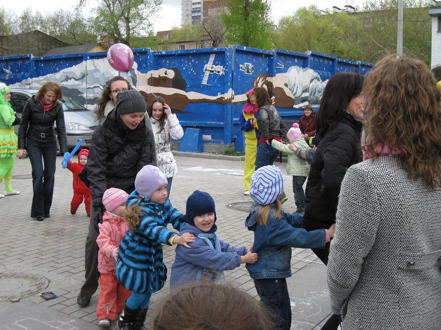 На пермском «Арбате» 1 мая веселились дети