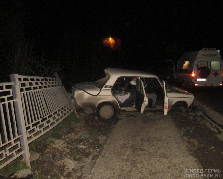 В автоаварии в Перми пострадали три человека