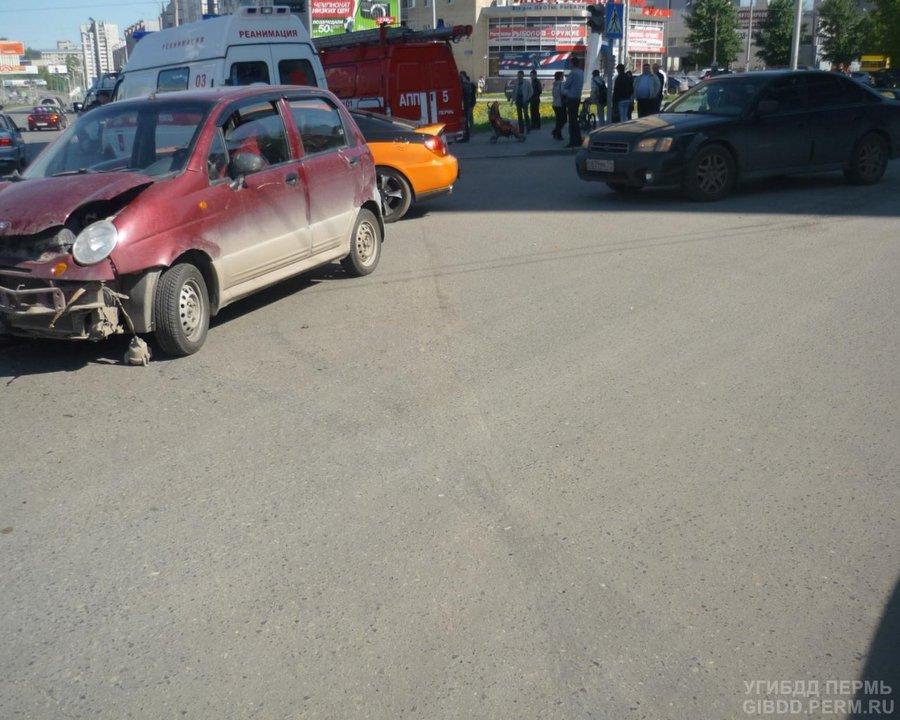 В Свердловском районе Перми в автоаварии пострадал годовалый ребенок