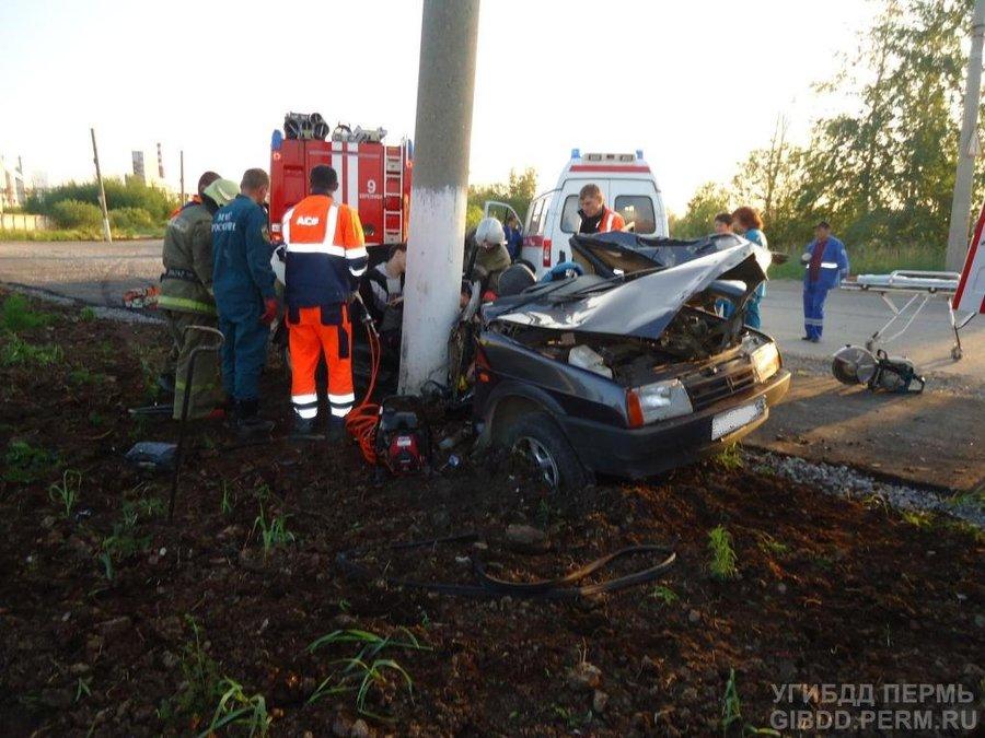 В Березниковском районе в ДТП два человека погибли, два - ранены - фото 1