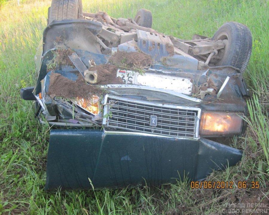 В Чернушинском районе пьяный водитель перевернул «семерку» - фото 1