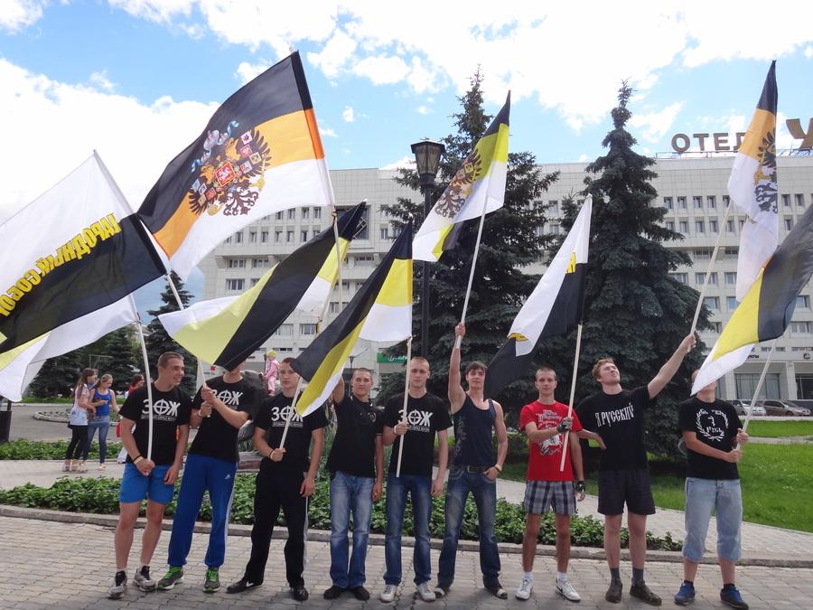 В Перми прошел пикет с Имперскими флагами - фото 4