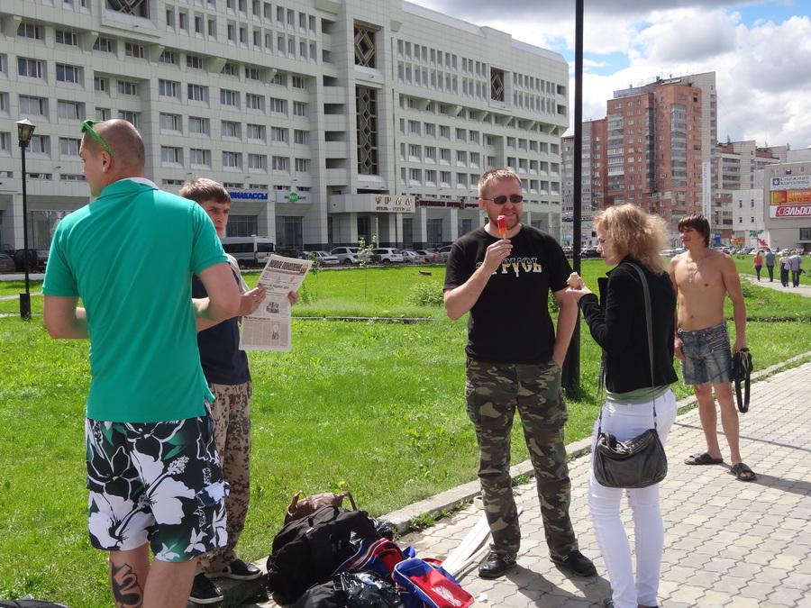 В Перми прошел пикет с Имперскими флагами - фото 5