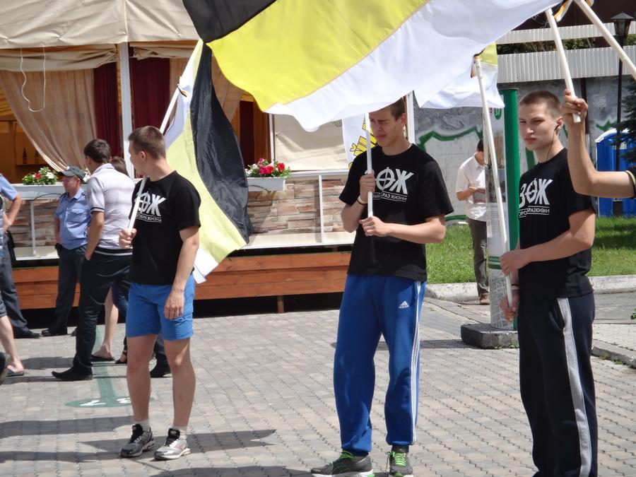 В Перми прошел пикет с Имперскими флагами - фото 6