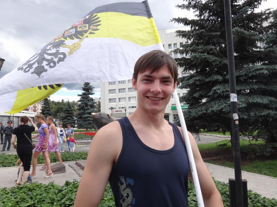 В Перми прошел пикет с Имперскими флагами - фото 9