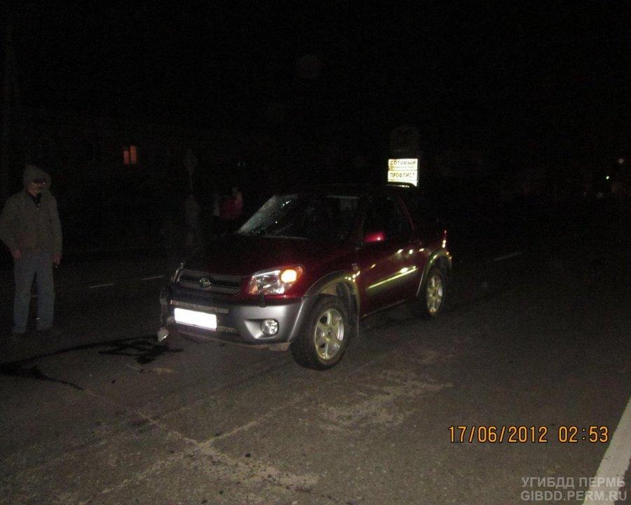 В Перми Тойота сбила пешехода - фото 1