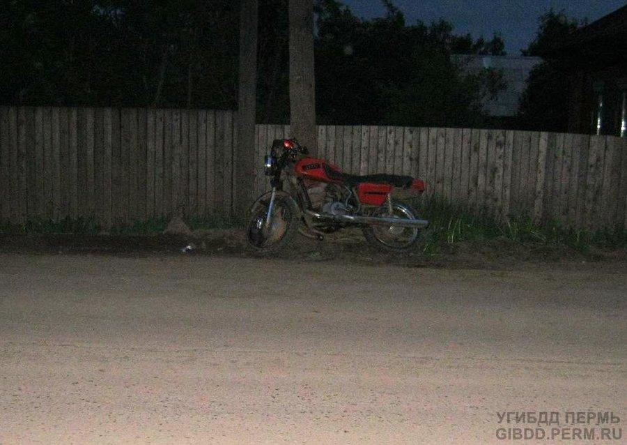 В Кудымкаре мотоциклист наехал на опору ЛЭП