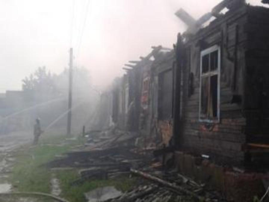 В Пермском районе произошел опасный пожар