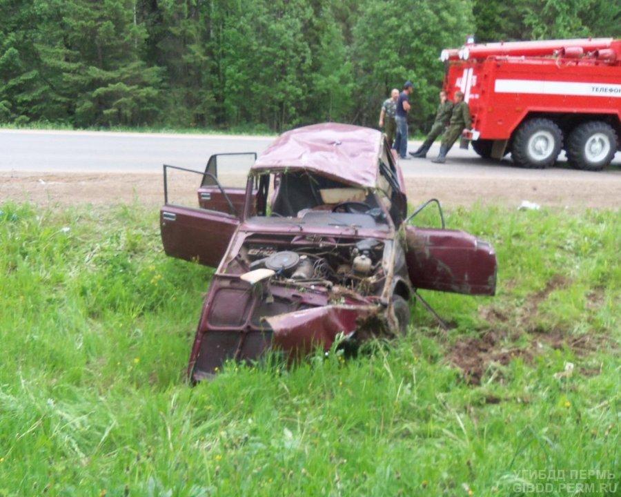 В Верещагинском районе погиб водитель «семерки»