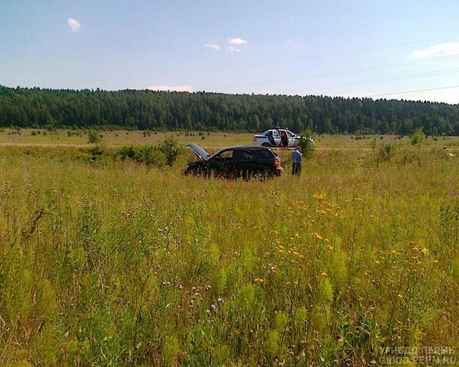 В Кишертском районе женщина-водитель перевернула автомобиль