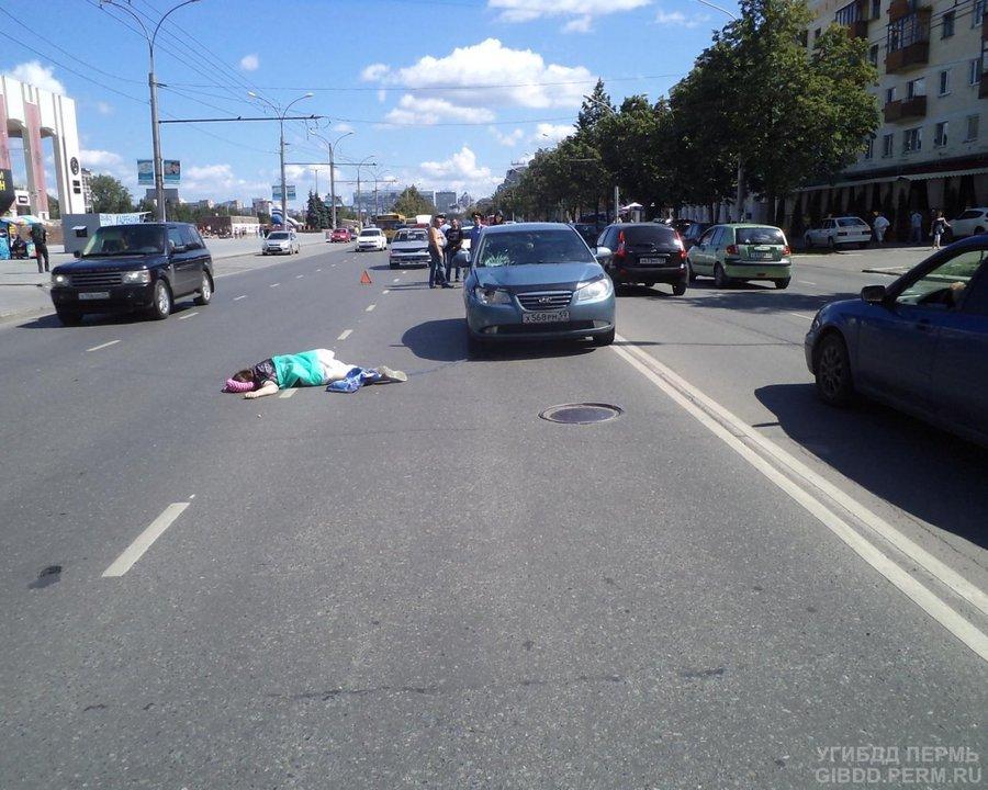 В Перми под колесами погибла пенсионерка